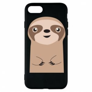 Phone case for iPhone 7 Naive sloth - PrintSalon