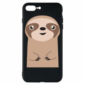 Phone case for iPhone 8 Plus Naive sloth - PrintSalon