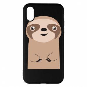 Phone case for iPhone X/Xs Naive sloth - PrintSalon