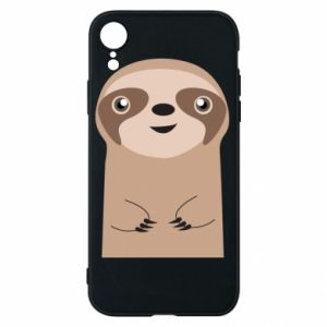 Phone case for iPhone XR Naive sloth - PrintSalon