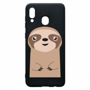 Phone case for Samsung A20 Naive sloth - PrintSalon
