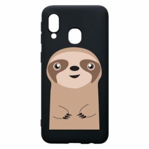 Phone case for Samsung A40 Naive sloth - PrintSalon