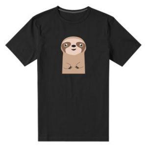 Men's premium t-shirt Naive sloth - PrintSalon