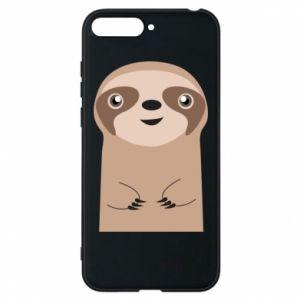 Phone case for Huawei Y6 2018 Naive sloth - PrintSalon