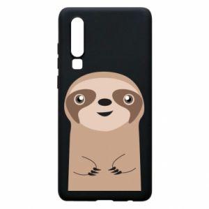 Phone case for Huawei P30 Naive sloth - PrintSalon