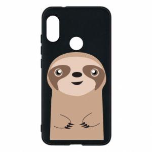 Phone case for Mi A2 Lite Naive sloth - PrintSalon