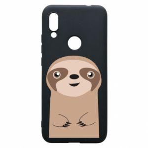 Phone case for Xiaomi Redmi 7 Naive sloth - PrintSalon
