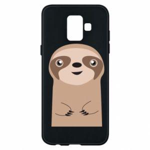 Phone case for Samsung A6 2018 Naive sloth - PrintSalon