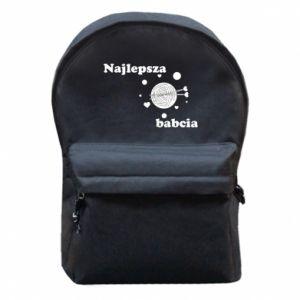 Plecak z przednią kieszenią Najlepsza babcia z kłębkiem wełny