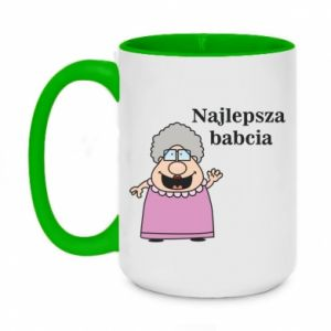 Two-toned mug 450ml Najlepsza babcia