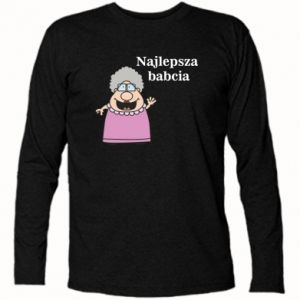 Koszulka z długim rękawem Najlepsza babcia - PrintSalon