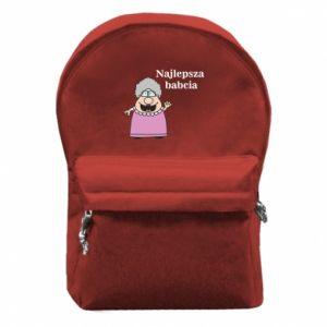 Plecak z przednią kieszenią Najlepsza babcia - PrintSalon