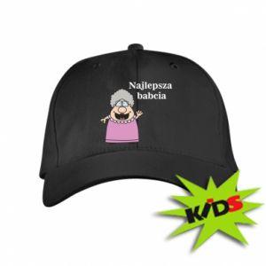 Dziecięca czapeczka z daszkiem Najlepsza babcia - PrintSalon