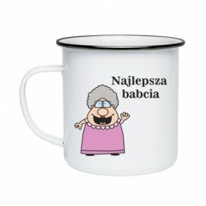 Kubek emaliowane Najlepsza babcia - PrintSalon