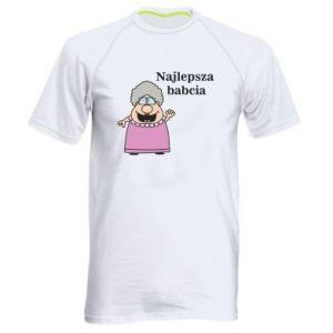 Męska koszulka sportowa Najlepsza babcia - PrintSalon