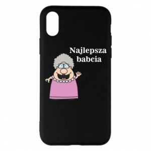 Etui na iPhone X/Xs Najlepsza babcia - PrintSalon