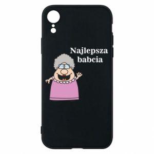 Etui na iPhone XR Najlepsza babcia - PrintSalon
