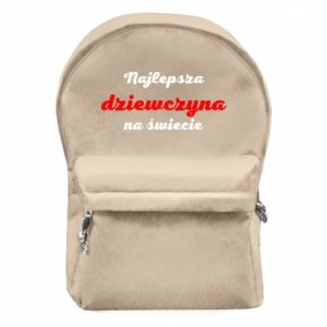 Backpack with front pocket The best girl in the world
