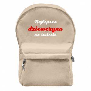 Plecak z przednią kieszenią Najlepsza dziewczyna na świecie