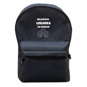 Plecak z przednią kieszenią Najlepsza lekarka na świecie