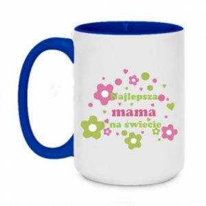 Two-toned mug 450ml The best mom in the world