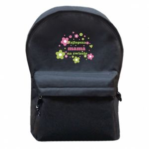 Backpack with front pocket The best mom in the world