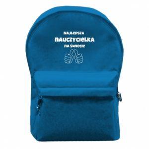Plecak z przednią kieszenią Najlepsza nauczycielka na świecie