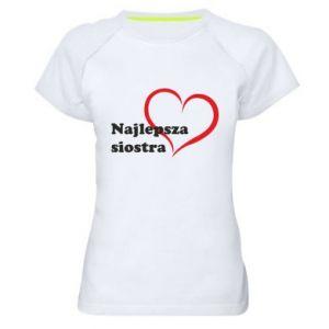 Koszulka sportowa damska Najlepsza siostra