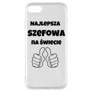Phone case for iPhone 8 The best boss in the world, for her