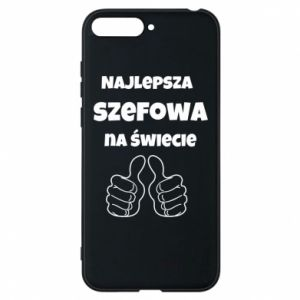 Phone case for Huawei Y6 2018 The best boss in the world, for her