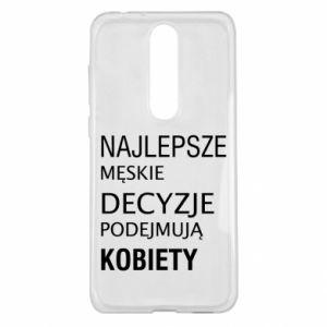 Etui na Nokia 5.1 Plus Najlepsze męskie decyzje...