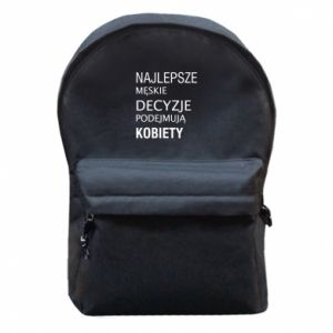 Backpack with front pocket The best men's decisions... - PrintSalon