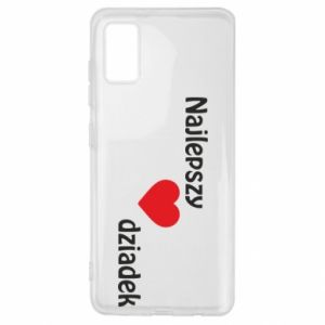 Samsung A41 Case Best grandfather with heart