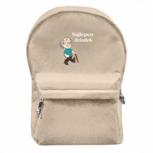 Backpack with front pocket Najlepszy dziadek