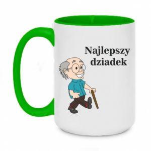 Two-toned mug 450ml Najlepszy dziadek
