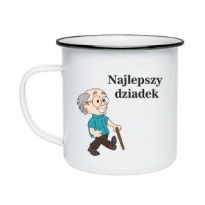 Kubek emaliowane Najlepszy dziadek - PrintSalon