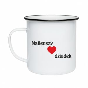 Enameled mug Best grandfather with heart