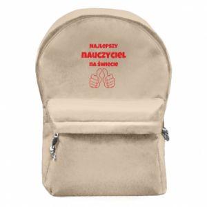 Plecak z przednią kieszenią Najlepszy nauczyciel na świecie