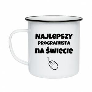 Kubek emaliowany Najlepszy programista na świecie