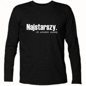 Koszulka z długim rękawem Najstarszy. Ja ustalam zasady
