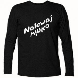 Koszulka z długim rękawem Nalewaj winko - PrintSalon