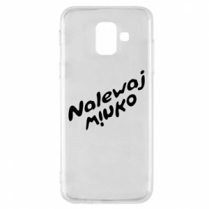 Phone case for Samsung A6 2018 Pour the wine