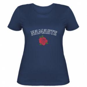 Women's t-shirt Namaste rose