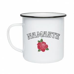 Enameled mug Namaste rose