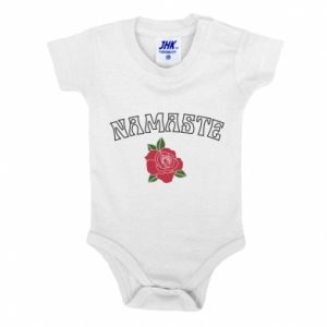 Baby bodysuit Namaste rose
