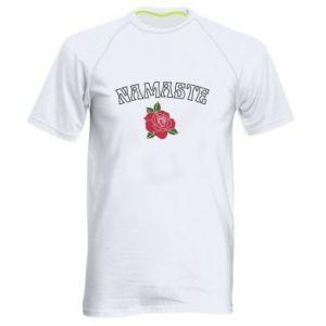 Men's sports t-shirt Namaste rose