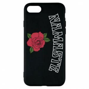 Phone case for iPhone 8 Namaste rose