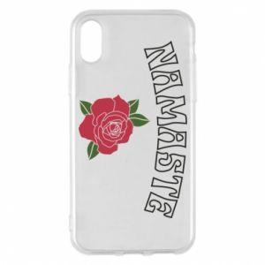 Phone case for iPhone X/Xs Namaste rose