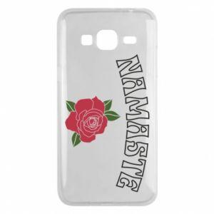 Phone case for Samsung J3 2016 Namaste rose