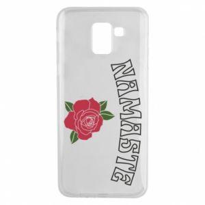 Phone case for Samsung J6 Namaste rose
